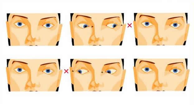 Упражнения в картинке при близорукости
