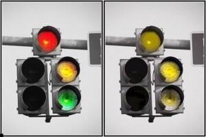 Как человек с дальтонизмом видит светофор