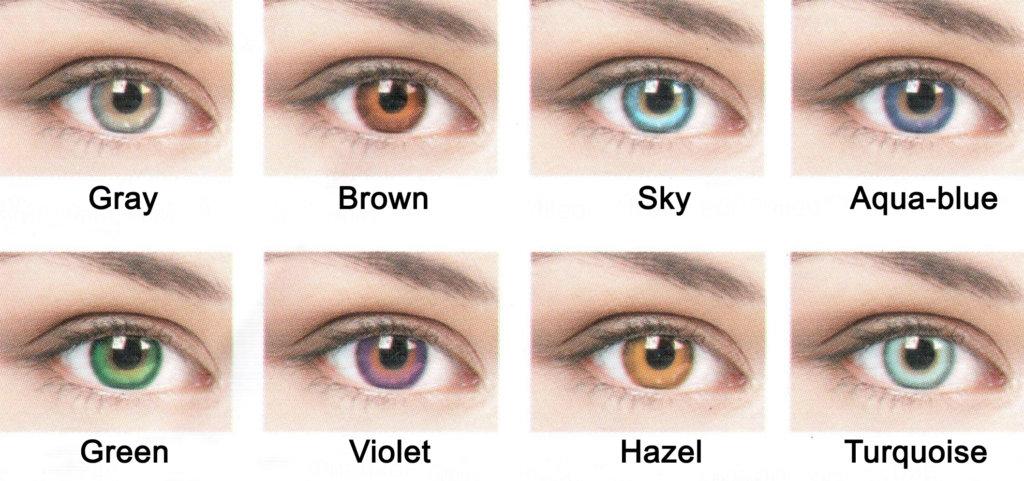 Разновидность цвета линз